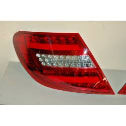 Set Of Rear Tail Lights Cardna Mercedes W204 2007-2001 Lightbar Red