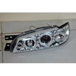 SET OF HEADLAMPS ANGEL EYES SUBARU IMPREZZA 1992-2002 CHROMED