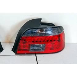 SET OF REAR TAIL LIGHTS BMW E39 1995-2000 LED CHROMED