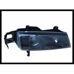 SET OF HEADLAMPS ANGEL EYES HONDA PRELUDE 1992-1996 BLACK