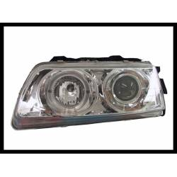 Set Of Headlamps Angel Eyes Honda CRX 1988, Chromed