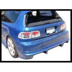REAR BUMPER HONDA CIVIC 1992-1995, RACING TYPE WITHOUT PLATE HOLE