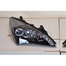 Set Of Headlamps Day Light Hyundai Genesis 2-Door 08-11 Black