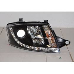 Set Of Headlamps Day Light Audi TT 1999-2006, Black