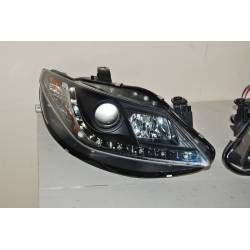 Set Of Headlamps Day Light Seat Ibiza 2009 6J Black