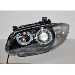 Set Of Headlamps Angel Eyes BMW 87/E81/E88/E82  Serie 1 Black
