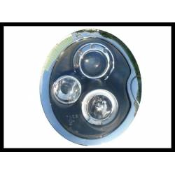Set of headlamps angel eyes Mini 2001-2005 black