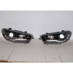 Set Of Headlamps Day Light Volkswagen Scirocco 2008-2013 Black