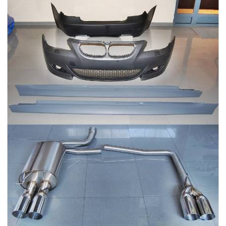 Body Kit Bmw E60 2004 2007 Look M5 Exhaust Tuning Carbon Hoods