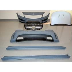 Body Kit Mercedes W176 A45 2012-2015 Look AMG Sensor Grill Bonnet