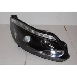 Set Of Headlamps Day Light Ford Focus 2011-2014, Blinker Led, Black