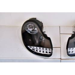 Set Of Headlamps Day Light Porsche 996 / 986 97-02 BLACK