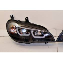 Set Of Headlamps Day Light Real BMW X5 E70 07-13 Xenon Black