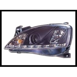 Set Of Headlamps Day Light Opel Corsa C Black