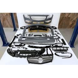 Body Kit Mercedes W117 2013-2018 4D / SW Facelift Look AMG A45 II Sport grill