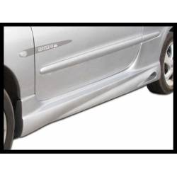 SIDE SKIRTS PEUGEOT 206 GT, WITH SIDE GILL