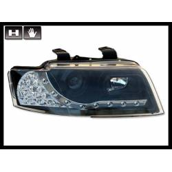 Set Of Headlamps Day Light Volkswagen Audi A4 2002-2005 Cabrio Black