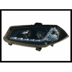 Set Of Headlamps Day Light Renault Megane 2003 Black