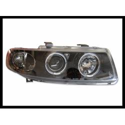 Set Of Headlamps Angel Eyes Seat Leon-Toledo 1999-2004 Black