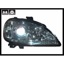 Set Of Headlamps Day Light Mercedes W163 4-Door 2002-2004 Chromed