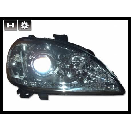 Set Of Headlamps Day Light Mercedes W163 4-Door 2002-2004 Chromed