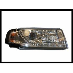 Set Of Headlamps Day Light Skoda Octavia 2001 Chromed