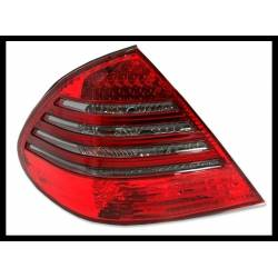 Set Of Rear Tail Lights Mercedes W211 07-09 Led Red Smoked