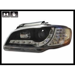 SET OF HEADLAMPS DAY LIGHT SEAT IBIZA 2000-2002 BLACK & BLINKER LED