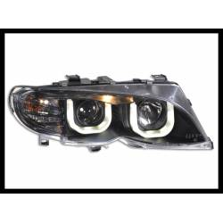 Set Of Headlamps Day Light BMW E46 4-Door 2001-2004 Black