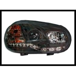 Set Of Headlamps Day Light Volkswagen Golf 4 Black