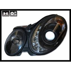 SET OF HEADLAMPS DAY LIGHT MERCEDES W211 2006-2008, BLACK