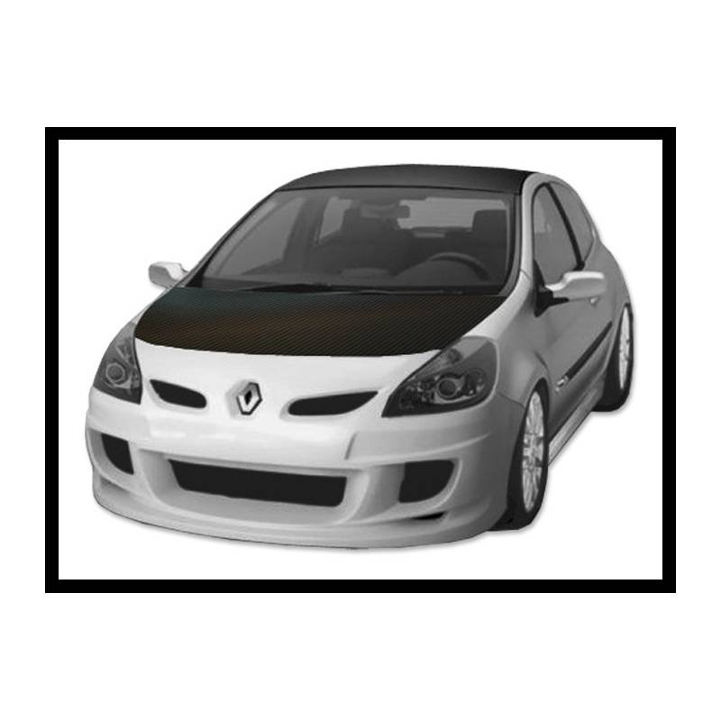 pare choc avant renault clio 05 tuning carbon hoods. Black Bedroom Furniture Sets. Home Design Ideas