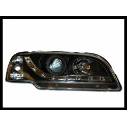 Set Of Headlamps Day Light Volvo S40 95-98 Black