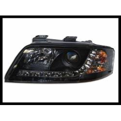Set Of Headlamps Day Light Audi A6 1999-2000, Black