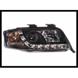 SET OF HEADLAMPS DAY LIGHT AUDI A6 2001-2003 BLACK