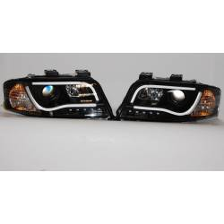 Set Of Headlamps Day Light Lti Audi A6 2001-2003 Black