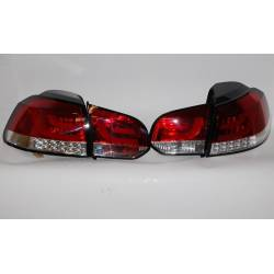 SET OF REAR TAIL LIGHTS CARDNA VOLKSWAGEN GOLF 6 LIGHTBAR RED