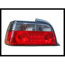 Set Of Rear Tail Lights BMW E36 1992-1998 2-Door Led Chromed & Red