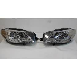 Set Of Headlamps Day Light Volkswagen Passat CC 2008-2010 Chromed.