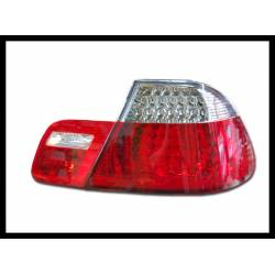 Set Of Rear Tail Lights BMW E46 1999-2002 2-Door, Led Chromed & Red