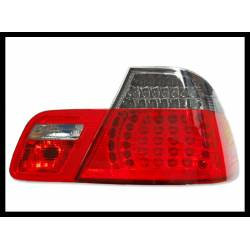 Set Of Rear Tail Lights BMW E46 2002-2005 4-Door Led Chromed/Red