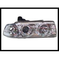 SET OF HEADLAMPS ANGEL EYES  BMW E36 '92 COUPE, CHROMED