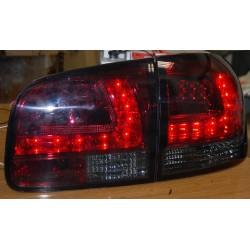 Set Of Rear Tail Lights Volkswagen Touareg 2003 Led Red/Smoked