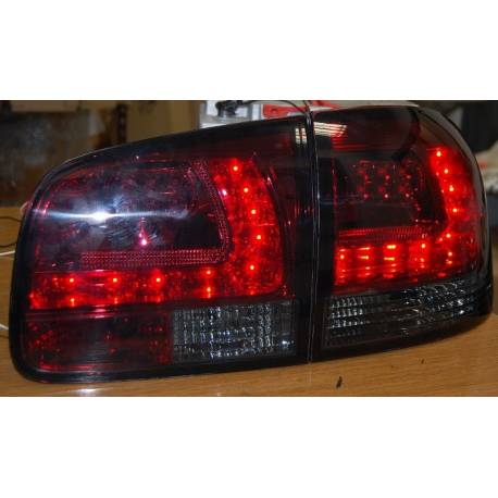 Set Of Rear Tail Lights Volkswagen Touareg 2003 Led Red