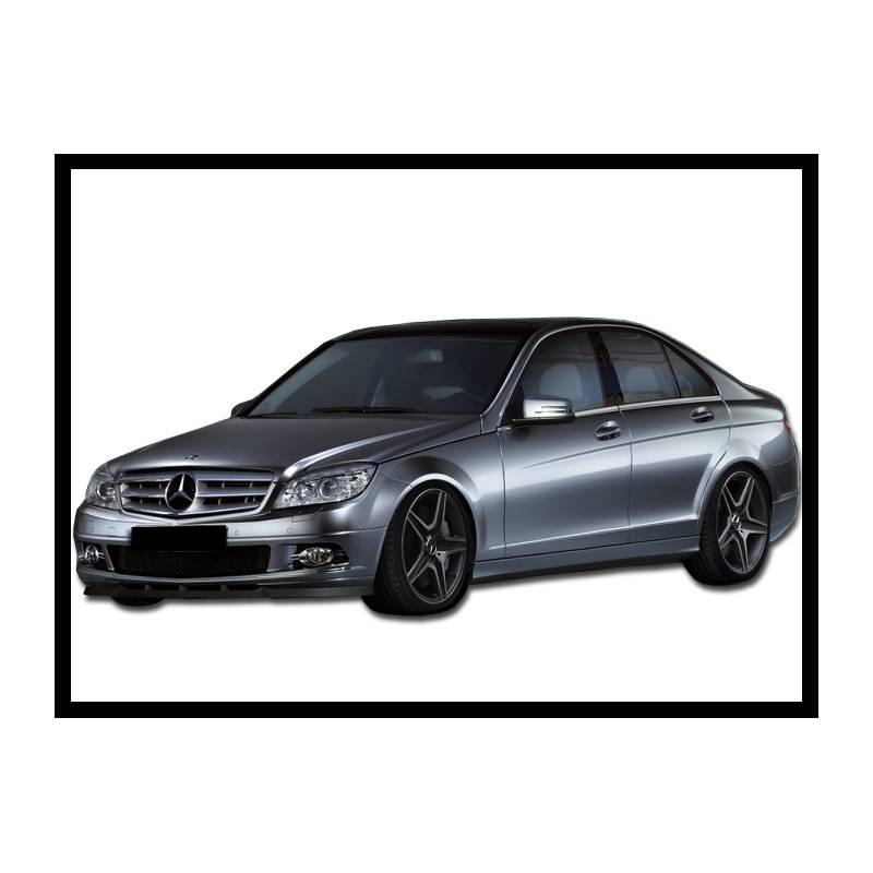 front spoiler mercedes c class w204 07 10 tuning carbon hoods. Black Bedroom Furniture Sets. Home Design Ideas