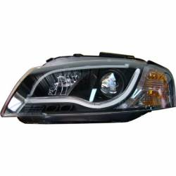 Set Of Headlamps Day Light Lti Audi A3 2003-2008 Black
