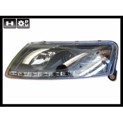 SET OF HEADLAMPS DAY LIGHT AUDI A6 2004-2007 BLACK