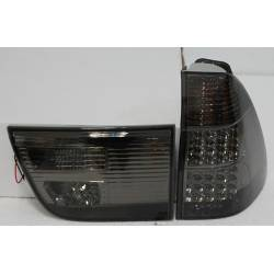 SET OF REAR TAIL LIGHTS BMW X5 2002-2005 LED BLACK & SMOKED
