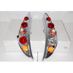 SET OF REAR TAIL LIGHTS FIAT PUNTO 1999 3D, LEXUS CHROMED