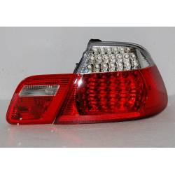 Set Of Rear Tail Lights BMW E46 1998/2005 CC, Led Red/Chromed